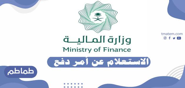 خطوات الاستعلام عن أمر دفع إلكترونيا – خدمات وزارة المالية