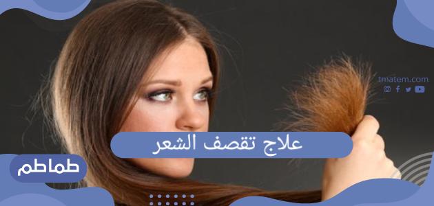 علاج تقصف الشعر وافضل وصفة لعلاج تقصف الشعر بمكونات طبيعية من المنزل