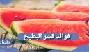 فوائد قشر البطيخ .. ما هى فوائد قشر البطيخ للشعر والبشرة؟